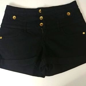 Refuge Shorts With Gold Buttons